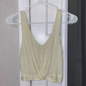 PacSun cropped twist-front tank